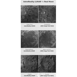 AstroReality Globos terráqueos en relieve LUNAR Pro