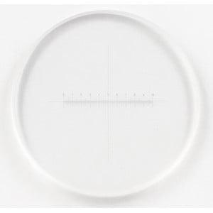Motic reticolo 100/10 mm, mirino, Ø 21 mm (RedLine200)