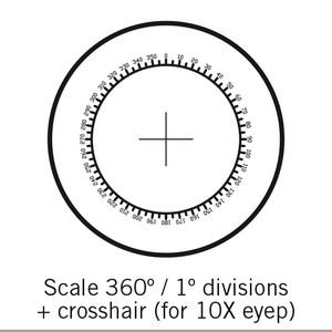 Motic reticolo 360°/1°, Ø 25 mm, solo per 10X (SMZ-161)