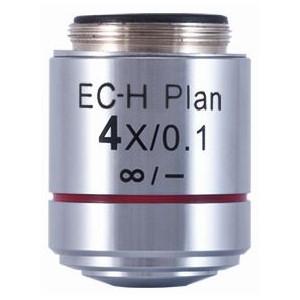 Motic Obiettivo EC-H PL, CCIS, plan, achro, 4x/0.1,  w.d. 15.9mm (BA-410 Elite)