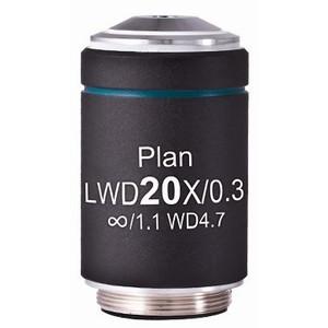 Motic Obiettivo LWD PL, CCIS, plan, acromatico, 20x/0.3, w.d. 4.7 mm (AE2000)