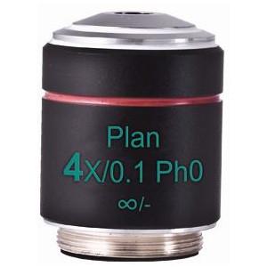 Motic Obiettivo PL Ph, CCIS, plan, achro phase 4x/0.10, w.d.12.6mm Ph0 (AE2000)