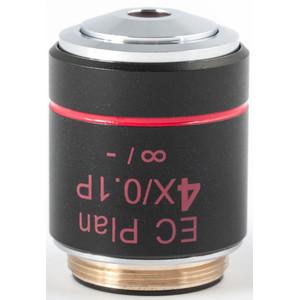 Motic Obiettivo EC PL P, CCIS, plan, achro, (spannungsfrei), 4x/0.10, w.d.15.9mm (BA-310 POL)