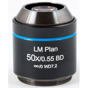 Motic Obiettivo LM BD PL, CCIS, LM, plan, achro, BD, 50x/0.55, w.d.7.2mm (AE2000 MET)