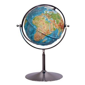 geo-institut Globo con sollievo mappamondo in rilievo (in inglese) 65 cm