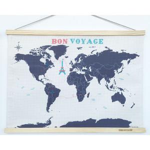 suck UK Kreuzstick Weltkarte Karte zum Besticken