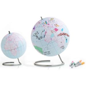 suck UK Globus zum Bemalen 25cm Ausmalglobus Beschreibbar