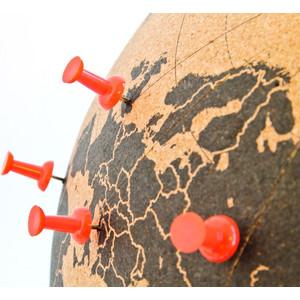 suck UK Mini globos terráqueos Globo de corcho 15cm para pinchar