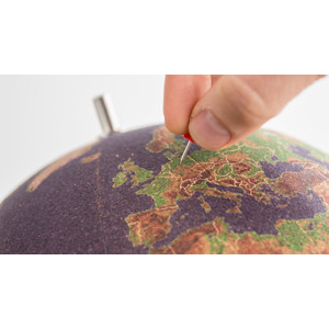 suck UK Coloured cork globe 25cm for pinning