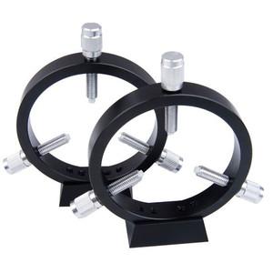 ASToptics Leitrohrschellen CNC Guidescope Rings 90mm w/Raiser blocks