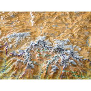 Georelief Nepal groß 3D mit Holzrahmen