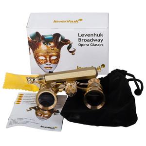 Levenhuk Binocolo da Teatro Broadway 3x25 oro con supporto e luce LED