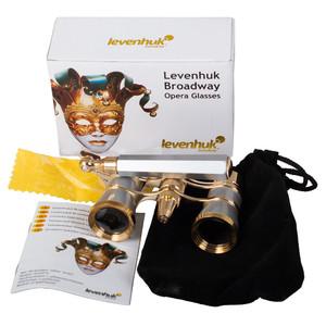 Levenhuk Binocolo da Teatro Broadway 3x25 argento con sopporte e luce LED