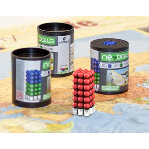 Bacher Verlag Neoballs Magnetkugel-Set 54 Stück rot