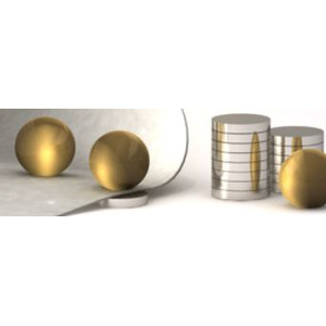 Bacher Verlag Neoballs Magnetkugel-Set 54 Stück gold