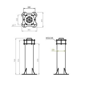 ASToptics Colonna HD PIER (219mm) for Celestron HD Pro Wedge