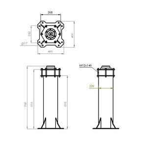ASToptics Colonna HD PIER (219mm) for MEADE LX200