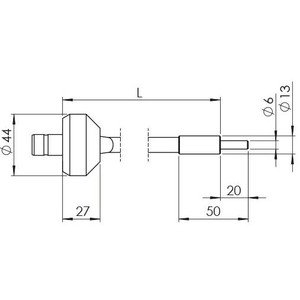 StarLight Opto-Electronics GLS1-450-4.5, 1-armig, Armlänge 450 mm, aktiver Durchmesser 4,5 mm