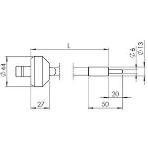 StarLight Opto-Electronics GLS1-800-4.5, 1-armig, Armlänge 800 mm, aktiver Durchmesser 4,5 mm