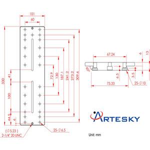Artesky Montageplatte Losmandy-Style 330mm