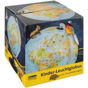 Idena Kinderglobus Leuchtglobus mit Tierabbildungen 30cm
