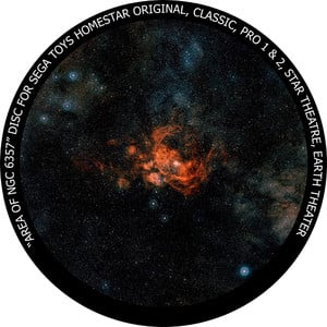 Redmark Dia für das Sega Homestar Planetarium NGC 6357