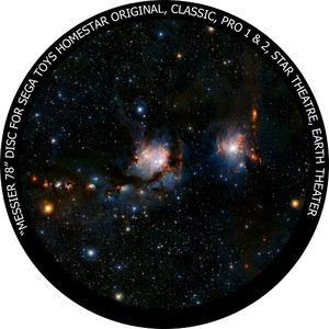 Redmark Dia für das Sega Homestar Planetarium Messier 78
