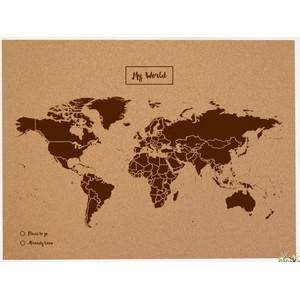 Miss Wood Woody Map Natural Cork XL brown