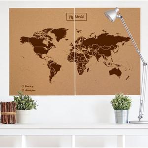 Miss Wood Woody Map Natural Cork XXL brown