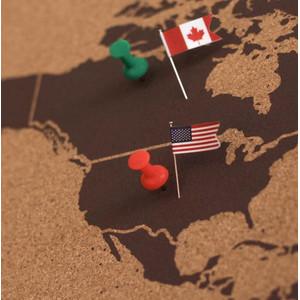 Miss Wood Mapamundi Woody Map Natural mapa político de corcho natural XXL marrón