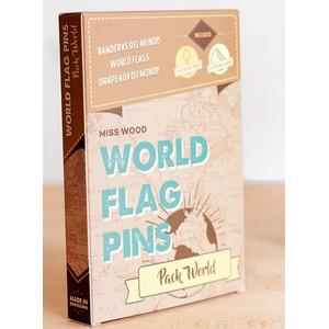 Miss Wood World Flag Pins Markierungsfahnen Pack World 100 Stück