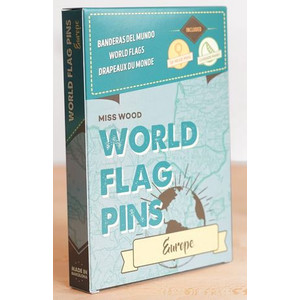 Miss Wood World Flag Pins Europe 25 pieces