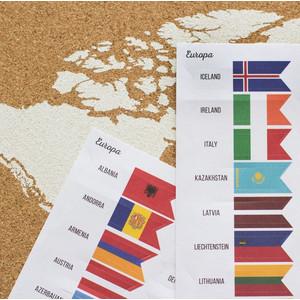 Miss Wood World Flag Pins Markierungsfahnen Europa 25 Stück