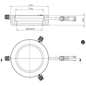 StarLight Opto-Electronics RL4-66 IR880, IR (880 nm), Ø 66mm