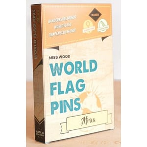Miss Wood World Flag Pins Africa 25 pieces