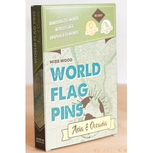 Miss Wood World Flag Pins Asia & Oceania 25 pieces