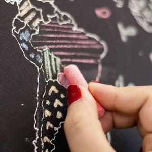 Miss Wood World map Chalkboard L