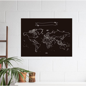 Miss Wood Weltkarte Chalkboard XL