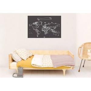 Miss Wood Mappa del Mondo Chalkboard XL