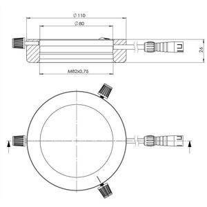 StarLight Opto-Electronics RL5-80 PW, pur-weiß (6.500 K), Ø 80mm