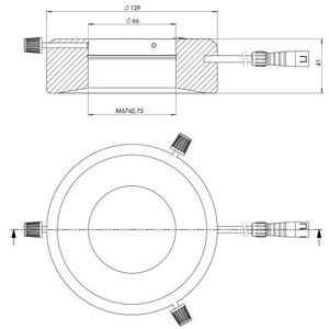 StarLight Opto-Electronics RL12-10s R, Spot,  rot (625 nm), Ø 66mm