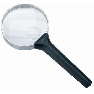 Schweizer Magnifying glass Handlupe Basic-Line BIFOCUS,  6D/16D;Ø75/Ø20mm, bifokal