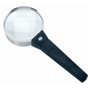 Schweizer Magnifying glass Handlupe Basic-Line FORTE, 10D/3,5x/Ø75mm, bikonvex
