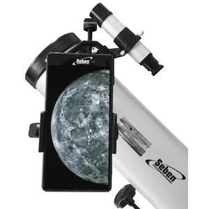 Seben 900-76 EQ2 Reflektor Teleskop + Smartphone Adapter DKA5 + Zubehör Paket