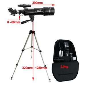 Orbinar 400/70 Telescopio Viaje + Mochila Refractor Catalejo Astronomía