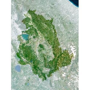 Planet Observer Regional map Umbria (laminated)
