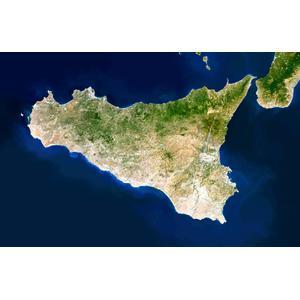 Planet Observer Mapa de : la región de Sicilia
