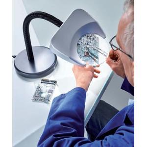 Schweizer Magnifying glass Lupenleuchte Tech-Line LED TISCHFUSS 6500K, 2x/Ø120mm, bikonvex, Tischfuß