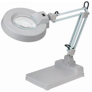 Schweizer Magnifying glass Lupenleuchte Scherenarm Tischfuß, 2x/Ø125mm, bikonvex, 22W