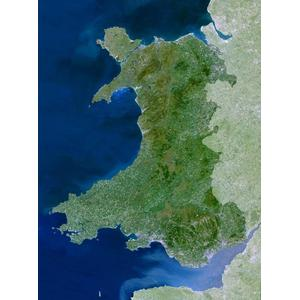 Planet Observer Mapa de : la región de Gales